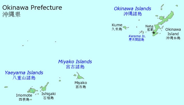 Okinawa Prefecture Islands Map