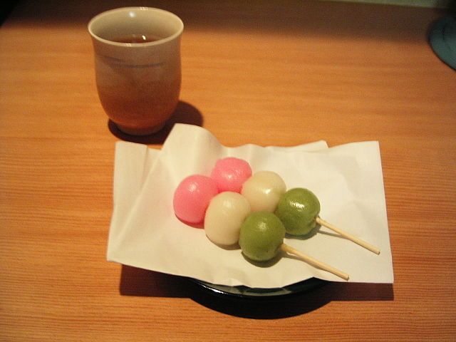 Dango With Green Tea