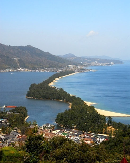 The Amanohashidate Sandbar As Seen From Amanohashidate View Land